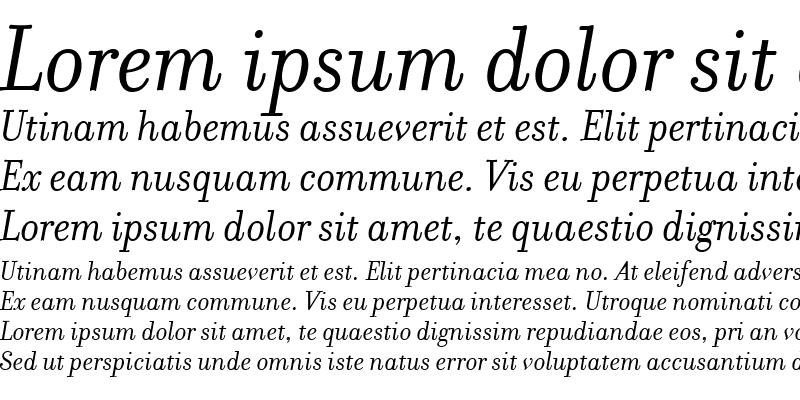 Sample of FilosofiaItalic Italic