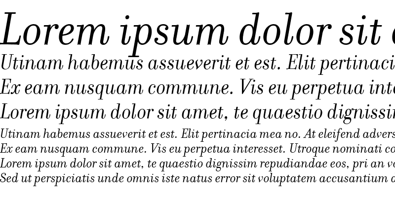 Sample of FilosofiaItalic Regular