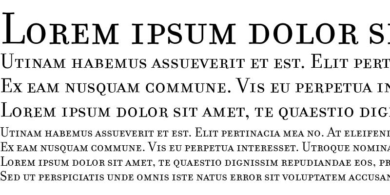 Sample of FilosofiaSmallCaps Roman
