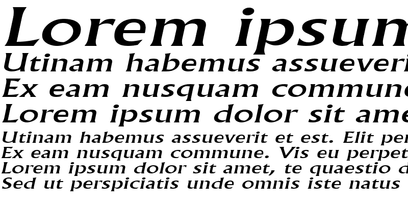 Sample of FlairExtended Italic