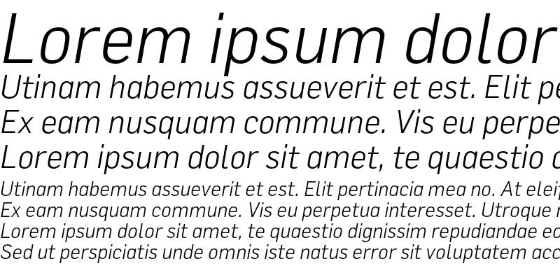 Sample of FlamaLight Italic