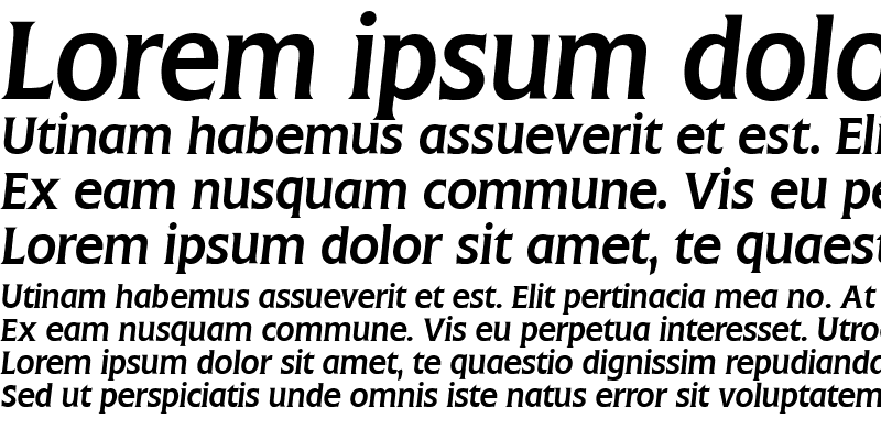 Sample of Flange BQ Italic
