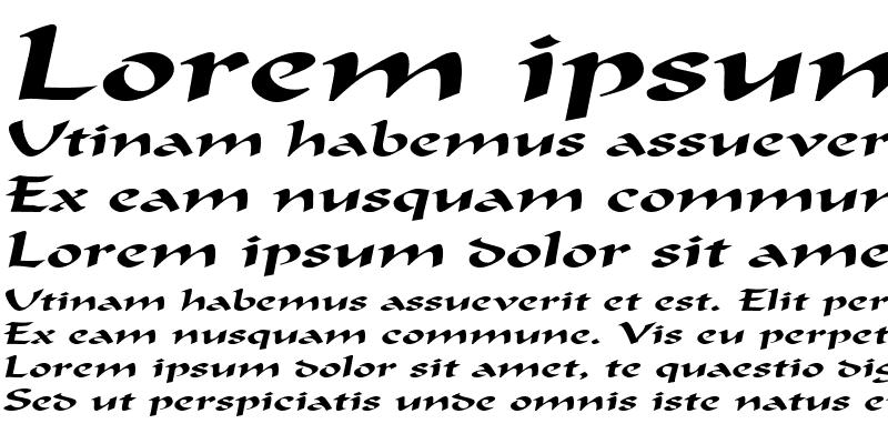 Sample of FlatBrushExtended Italic