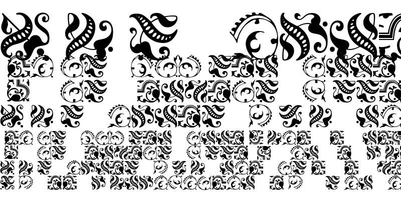 Sample of FleuronsOne Regular