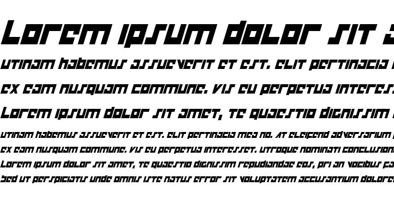 Sample of Flight Corps Condensed Italic Condensed Italic