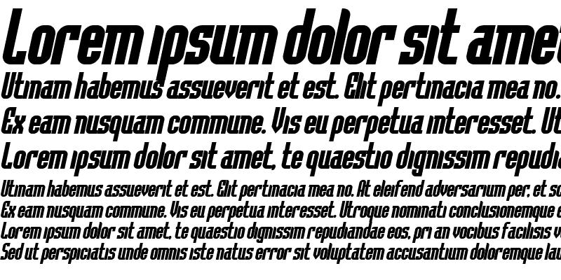 Sample of Flintstone Bold Italic