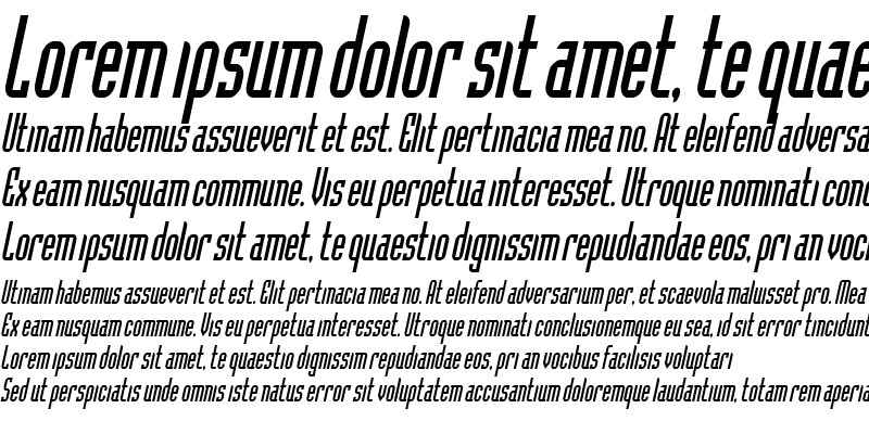 Sample of Flintstone Condensed Italic