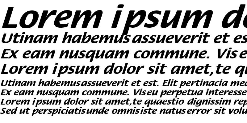 Sample of FloraExtObl-Bold
