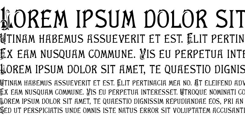 Sample of Floral Latin Normal