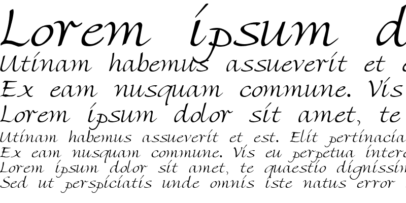 Sample of Florentine Script Regular