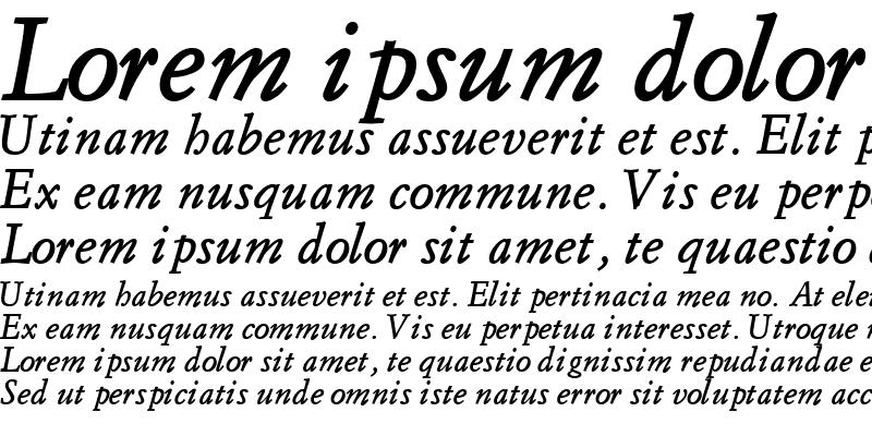 Sample of FlorentineGaramondSSK Bold Italic