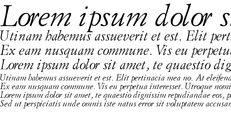 Sample of FlorentineGaramondSSK Italic