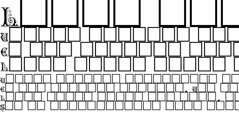 Sample of FlowerCapsText1222 ttext Regular