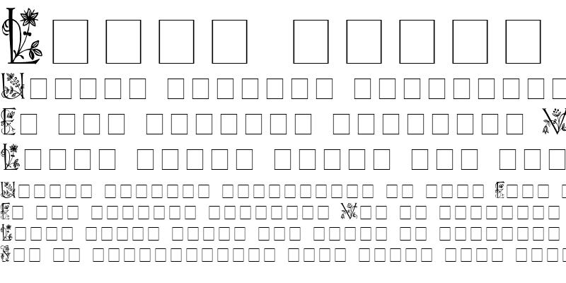 Sample of FLOWERED CAPS