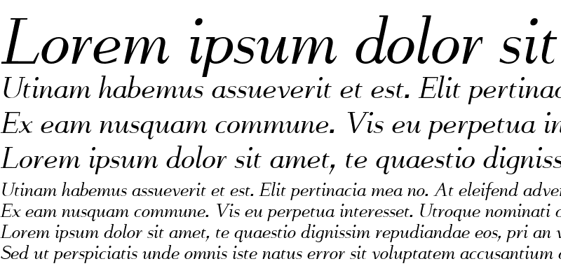 Sample of FlyHigh Italic