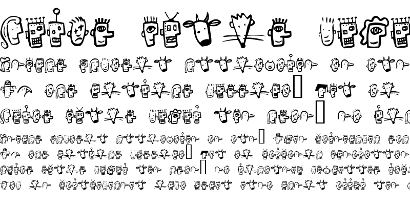 Sample of Font Heads