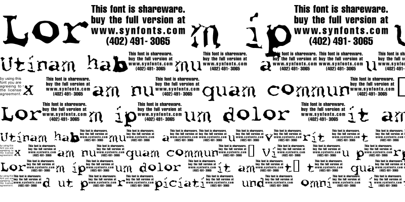 Sample of Font Pirate UNPAID DEMO