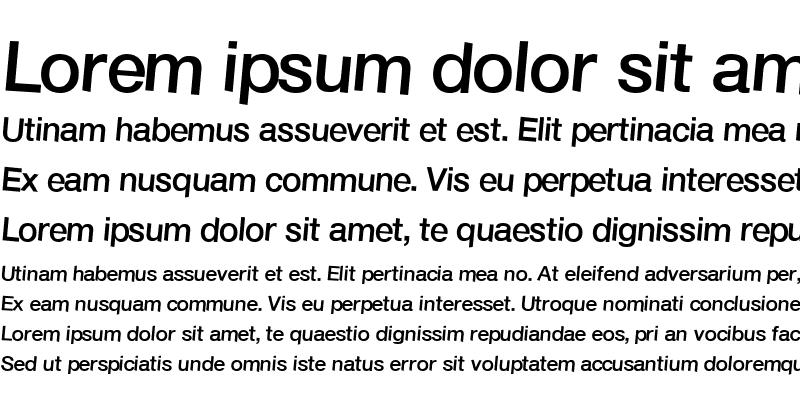 Sample of Font