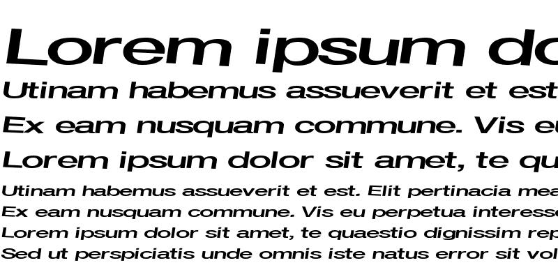 Sample of Font ttnorm