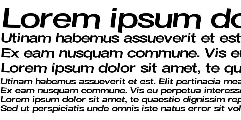Sample of Font  ttstd