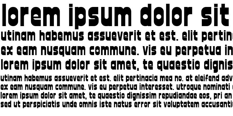 Sample of font twelve good