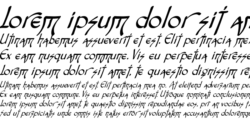 Sample of Fontasia Three Script Italic