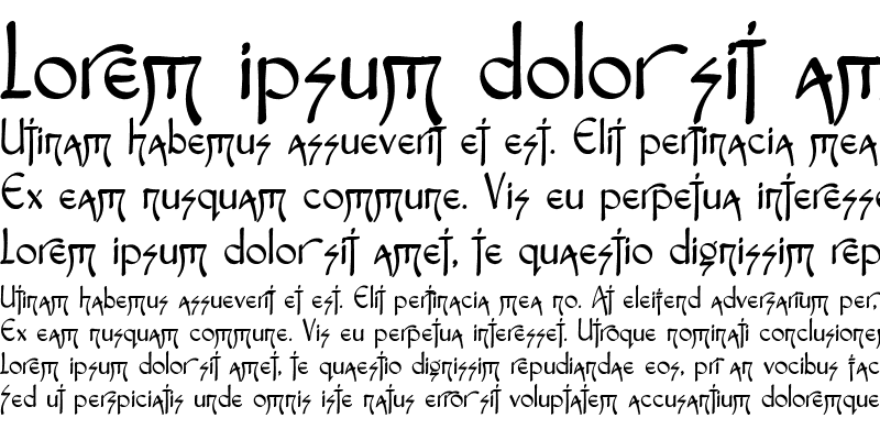 Sample of Fontasia Three Script