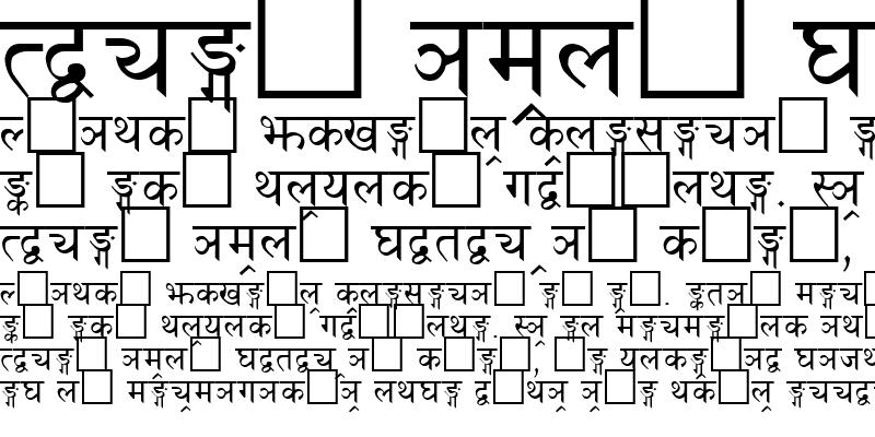 Sample of Fontasy Himali