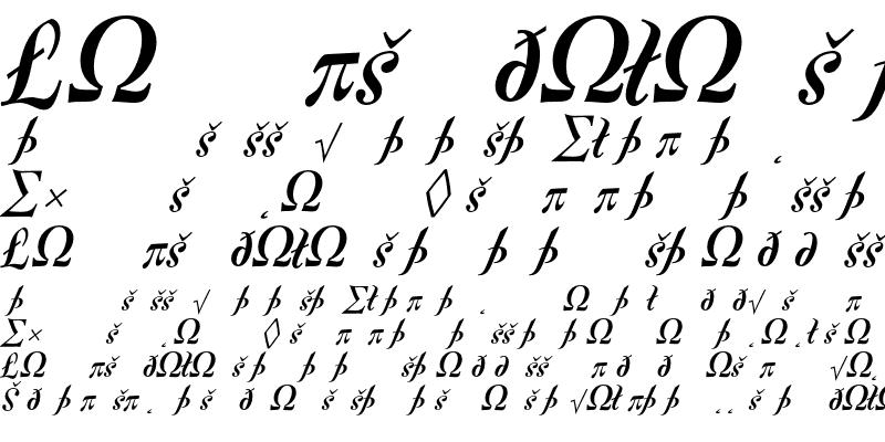 Sample of Fontesque-BoldItalicExpert