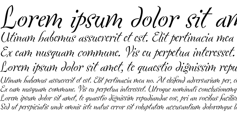 Sample of Fontesque Italic