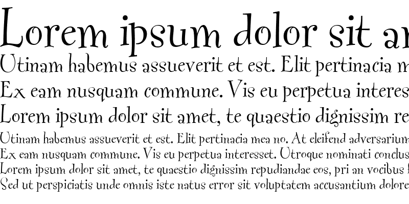 Sample of Fontesque