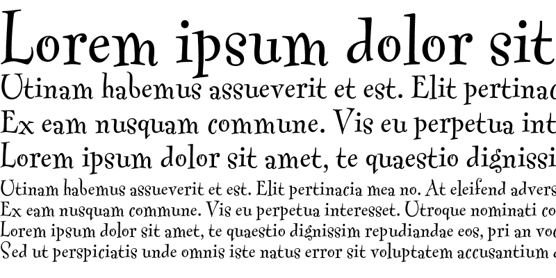 Sample of Fontesque Text
