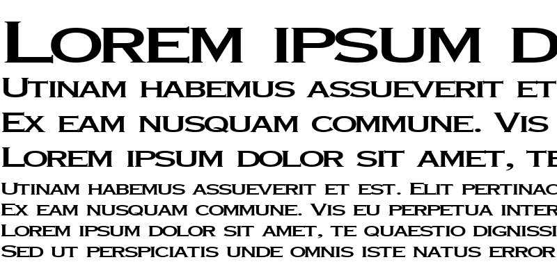 Sample of FontFever26 ttext Regular