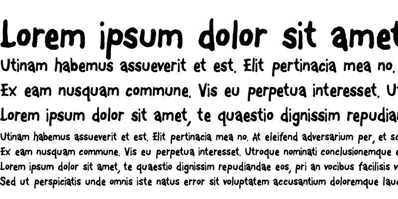 Sample of FontOnAStick Regular