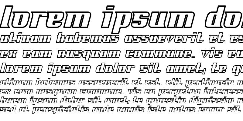 Sample of Fontovision IV outline