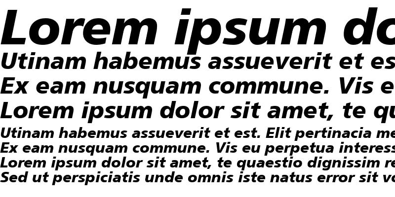Sample of Foreigner Bold-Italic