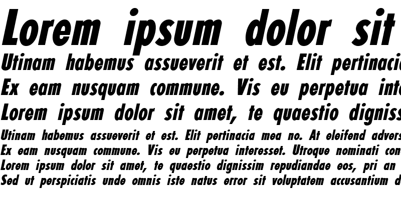 Sample of Fortuna Extra Condensed Bold Italic