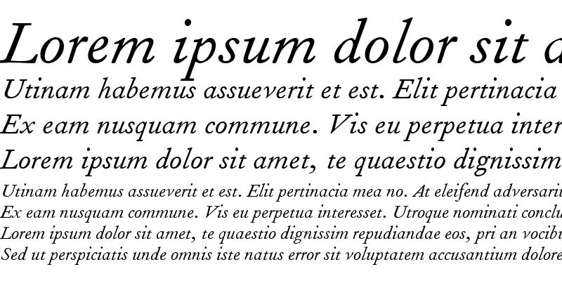 Sample of FournierMT RomanItalic