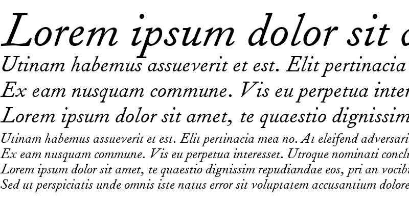 Sample of FournierMTTallCaps RomanItalic