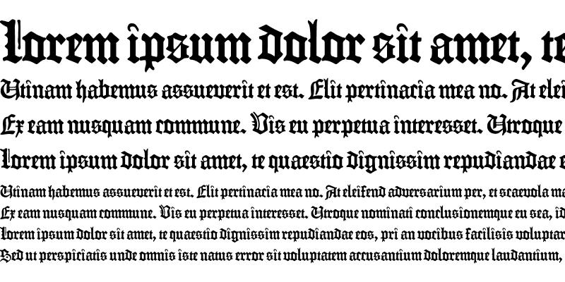 Sample of Fraktur Gutenberg B42 Regular