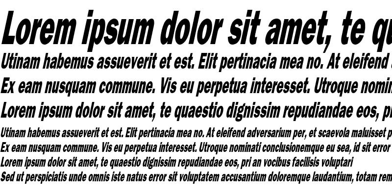 Sample of Francis Gothic Thin Italic
