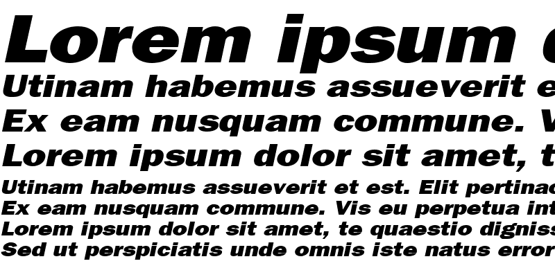 Sample of Francis Gothic Wide Italic