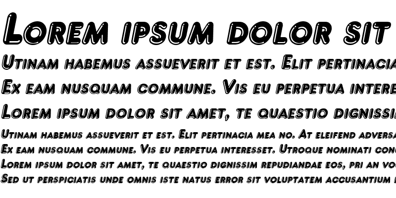 Sample of Francis High Lighted Italic