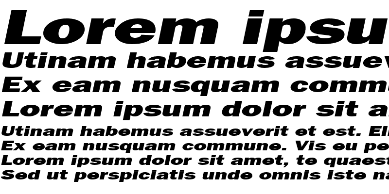 Sample of FrancisGothicExtended Italic