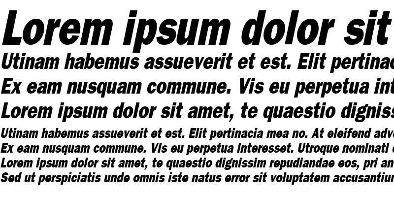 Sample of FrancisGothicReduced Italic