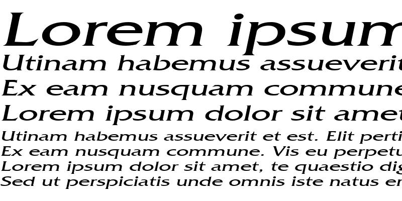 Sample of FrancoExtended Italic