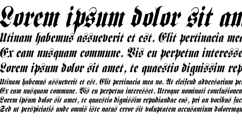 Sample of Frank Condensed Italic