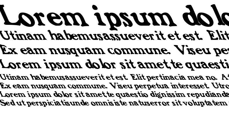 Sample of Frank Font Lefty Regular