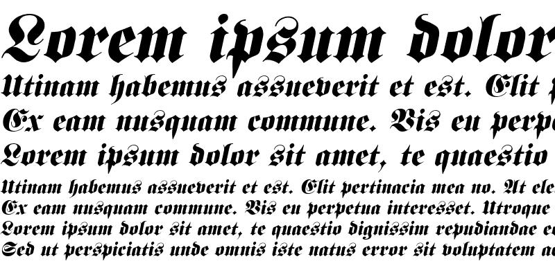 Sample of Frank Italic