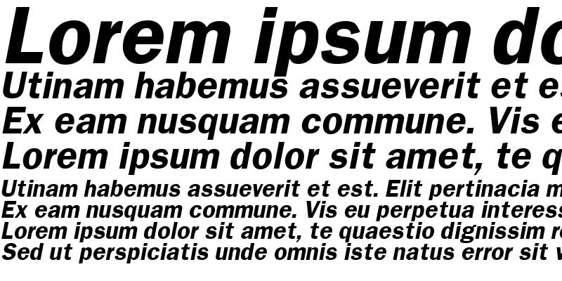 Sample of Franklin Gothic Bold Italic